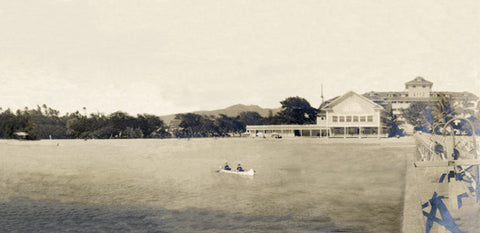 Picture Of Moana Hotel And Pier 1906 - Hawaiipictures.com