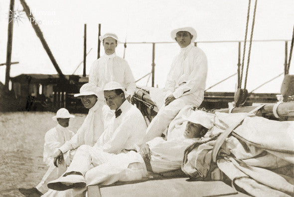 Vintage Picture Of Gentlemen Sailors