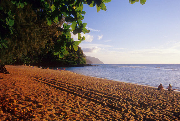 Late Afternoon On Ke'e Beach - Hawaiipictures.com