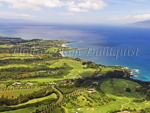 Aerial of Kapalua and golf courses, Maui, Hawaii - Hawaiipictures.com