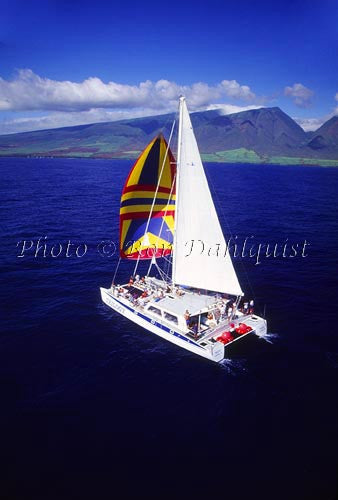 Sailing with Trilogy Excursions off of the island of Maui