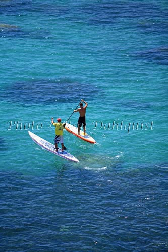 Stand-up paddle boarding on the West shore of Maui, Hawaii Picture