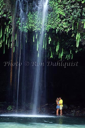 Honeymoon couple at Twin Falls, Maui, Hawaii Picture