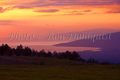 Upcountry Maui sunset, looking toward Maalaea, Hawaii