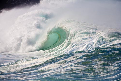 Large winter waves breaking at Waimea on Oahu, Hawaii Picture - Hawaiipictures.com