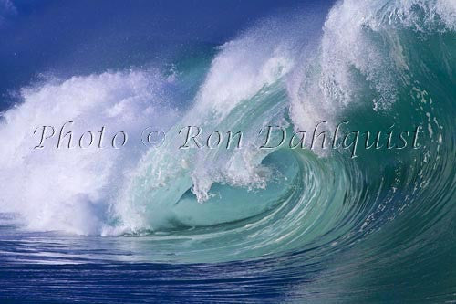 Close-up of wave breaking on the north shore of Oahu, Hawaii Print - Hawaiipictures.com