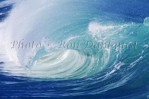 Close-up of wave breaking on the north shore of Oahu, Hawaii Photo Print