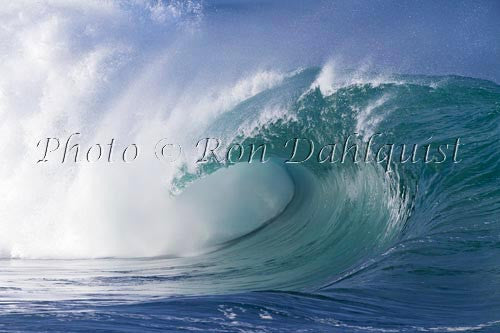 Close-up of wave breaking on the north shore of Oahu, Hawaii Picture Photo Print