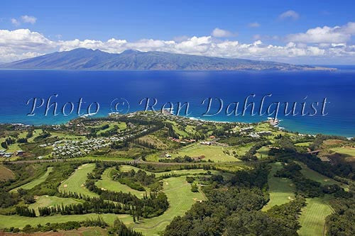 Aerial of Kapalua and Kapalua Bay, Maui, Hawaii Photo Print - Hawaiipictures.com