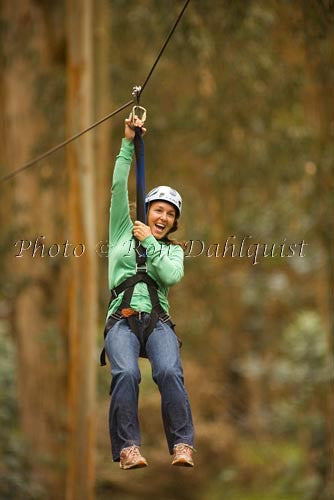 Zipline at Skyline Eco-Adventures, Upcountry Maui, Hawaii