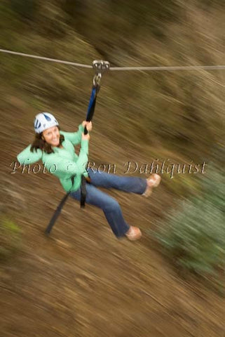 Zipline at Skyline Eco-Adventures, Upcountry Maui, Hawaii Picture - Hawaiipictures.com