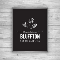 Bluffton South Carolina Palmetto Art Print by 7th & Palm