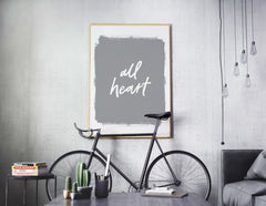 All Heart Art Print - Soul Scripts by 7th & Palm