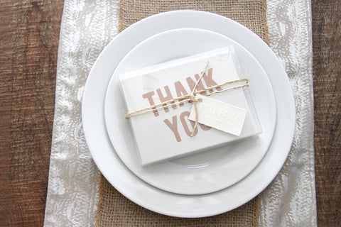Thank You Note Cards by 7th & Palm