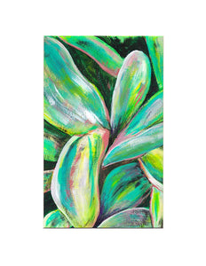 "Palm Lily, 5x8"" Acrylic Painting - Original Art by Andrea Smith"