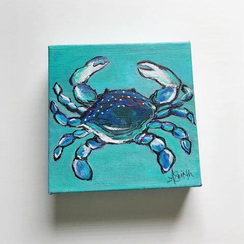 Little Crab, 6x6""