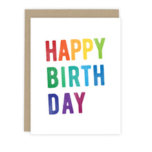 Load image into Gallery viewer, Rainbow Block Print Birthday Card | Greetings Cards & Stationery by 7th & Palm