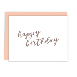 Rose Gold Script Birthday Card | Greeting Cards by 7th & Palm