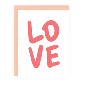 Coral LOVE Note Card | Luxe Stationery & Greeting Cards by 7th & Palm