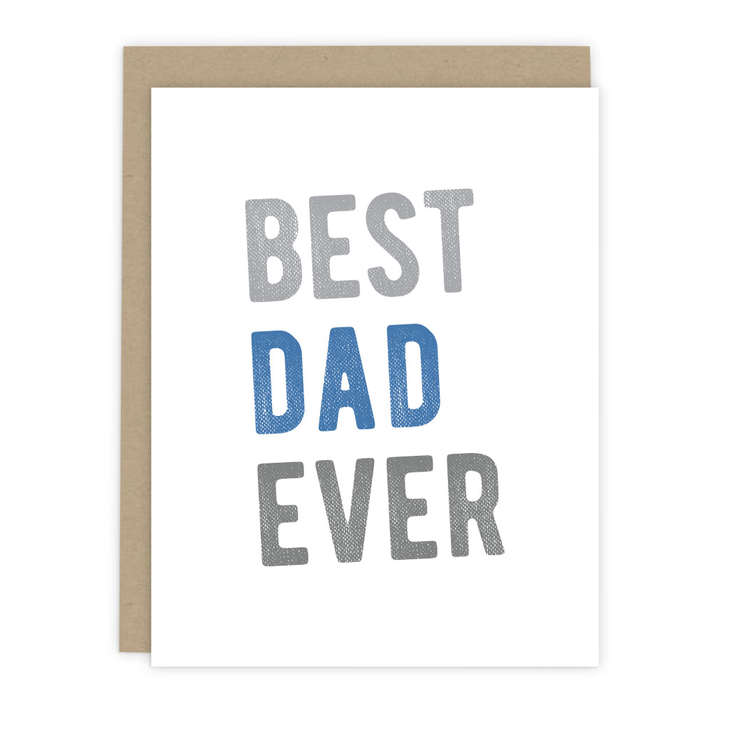 Best Dad Ever Note Card - Greeting Cards & Stationery by 7th & Palm