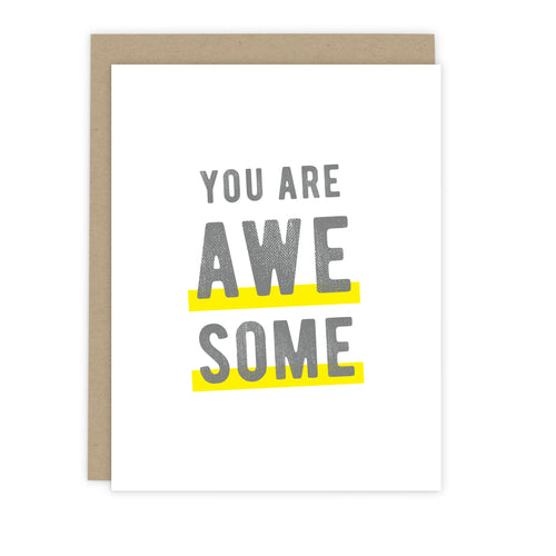 You Are Awesome Note Card | Luxe Stationery & Greeting Cards by 7th & Palm