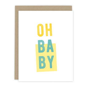 Oh Baby Note Card | Baby Shower Card | Luxe Stationery & Greeting Cards by 7th & Palm