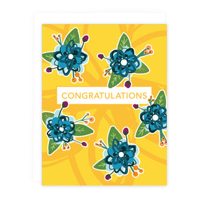 Yellow Floral Congratulations Note Card | Luxe Stationery & Greeting Cards by 7th & Palm