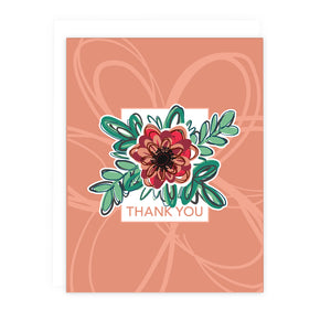 Blush Pink Floral Thank You Note Card | Luxe Stationery & Greeting Cards by 7th & Palm