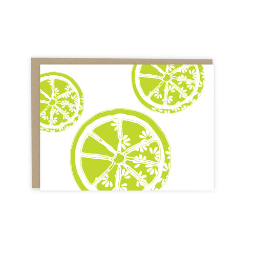 Lime Citrus Note Card
