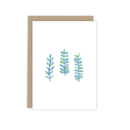 Blue Seaweed Note Card from 7th & Palm | Luxe Stationery & Greeting Cards by 7th & Palm