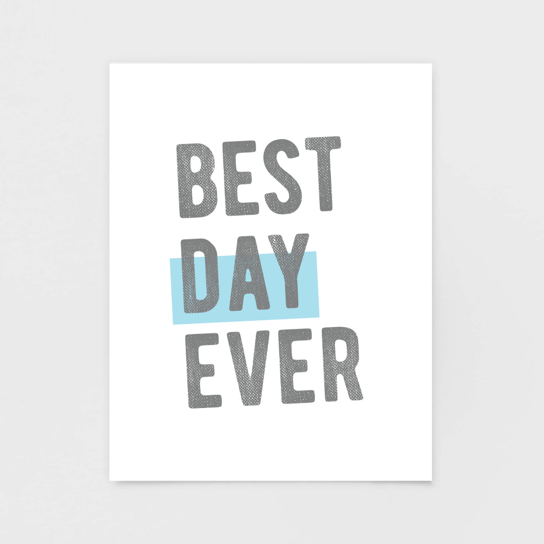 Best Day Ever Note Card - Greeting Cards & Stationery by 7th & Palm