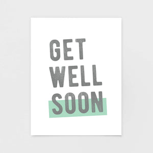 Get Well Soon Note Card - Greeting Cards & Stationery by 7th & Palm