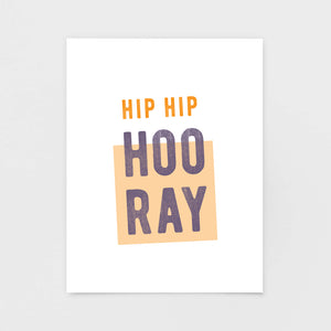 Hip Hip Hooray Note Card - Greeting Cards & Stationery by 7th & Palm