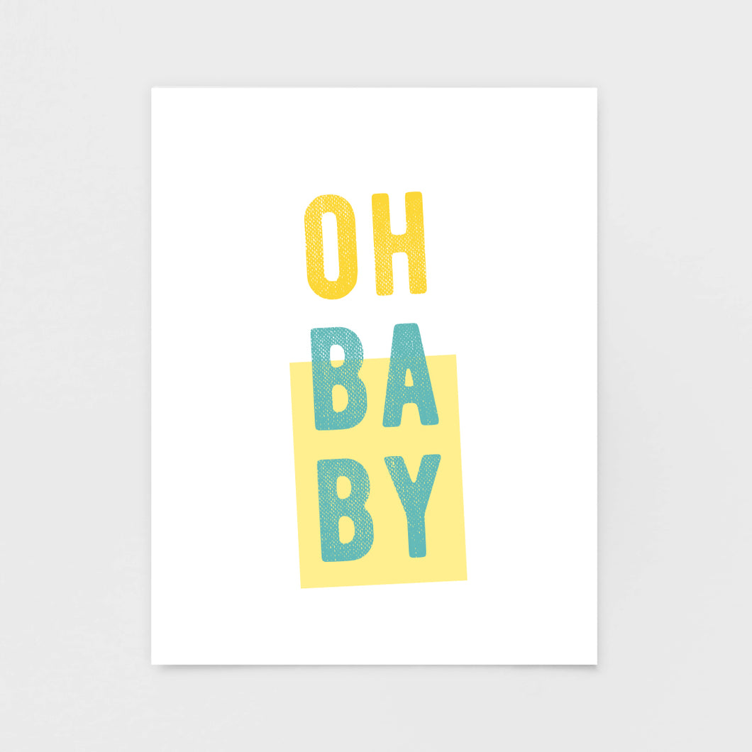Oh Baby Note Card - Greeting Cards & Stationery by 7th & Palm