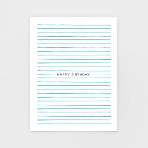Cabana Stripe Birthday Card | Luxe Greeting Cards by 7th & Palm