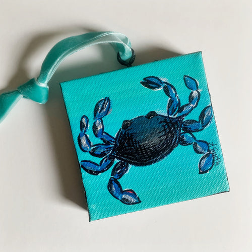 Blue Crab Canvas Ornament