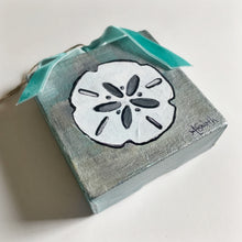 Load image into Gallery viewer, Sand Dollar Ornament on Canvas - Coastal Decor by Artist Andrea Smith | 7th & Palm