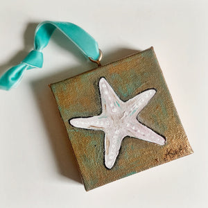 Sea Star Ornament on Canvas - Coastal Decor by Artist Andrea Smith | 7th & Palm