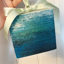 Load image into Gallery viewer, Ocean Canvas Ornament - Coastal Home Decor by 7th & Palm