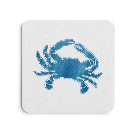 Blue Crab Coaster Set - Coastal Home Decor by 7th & Palm