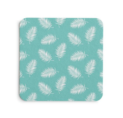 Palm Leaves Coaster Set - Coastal Home Decor by 7th & Palm