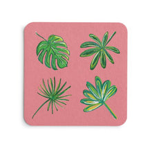 Load image into Gallery viewer, Pink Palms Coaster Set - Coastal Home Decor by 7th & Palm