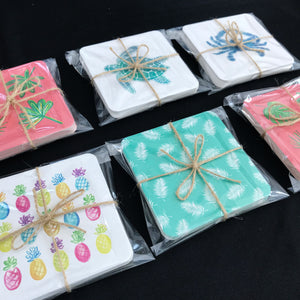 Hand-Illustrated Coaster Set - Coastal Home Decor by 7th & Palm