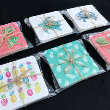 Load image into Gallery viewer, Hand-Illustrated Coaster Set - Coastal Home Decor by 7th & Palm