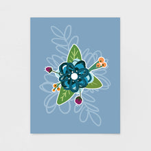 Load image into Gallery viewer, Blue Floral Note Card | Luxe Stationery & Greeting Cards by 7th & Palm