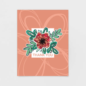 Blush Pink Floral Thank You Note Card - Greeting Cards from 7th & Palm