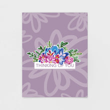 Load image into Gallery viewer, Purple Floral Thinking of You Note Card | Luxe Stationery & Greeting Cards by 7th & Palm