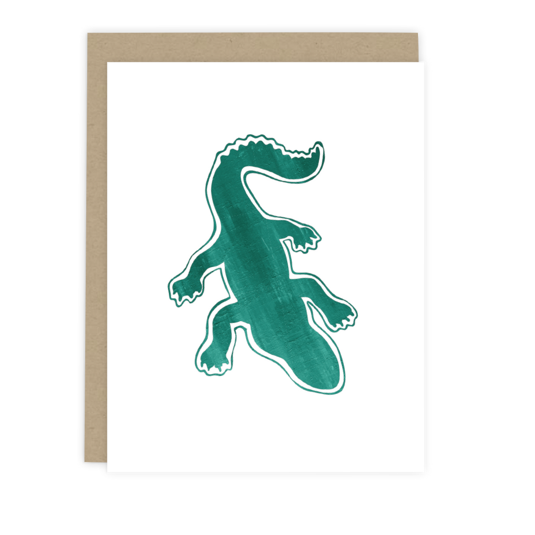 Alligator Note Card