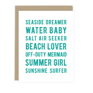 Beach Lover Note Card