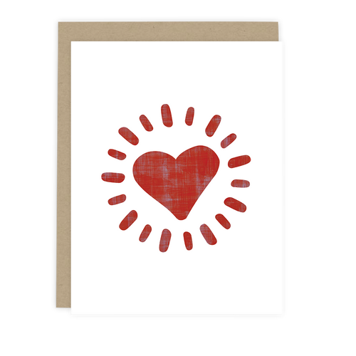 Radiant Heart Note Card